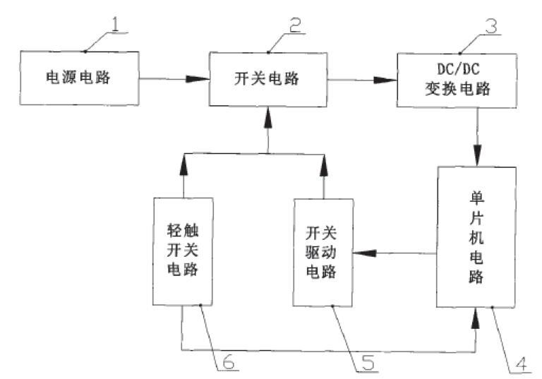 单片机系统中的轻触开关电源通断控制电路及控制方法